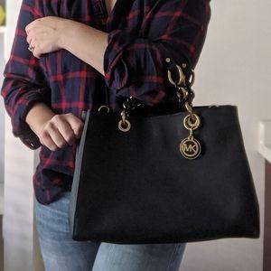Michael Kors Saffiano Leather Navy bag